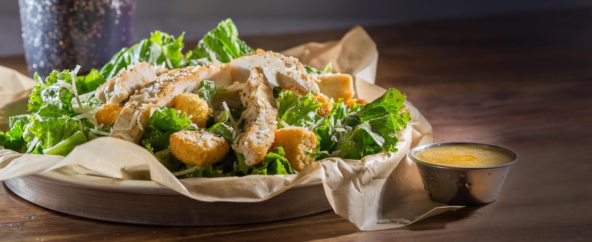 Wayback Burgers Chicken Caesar Salad