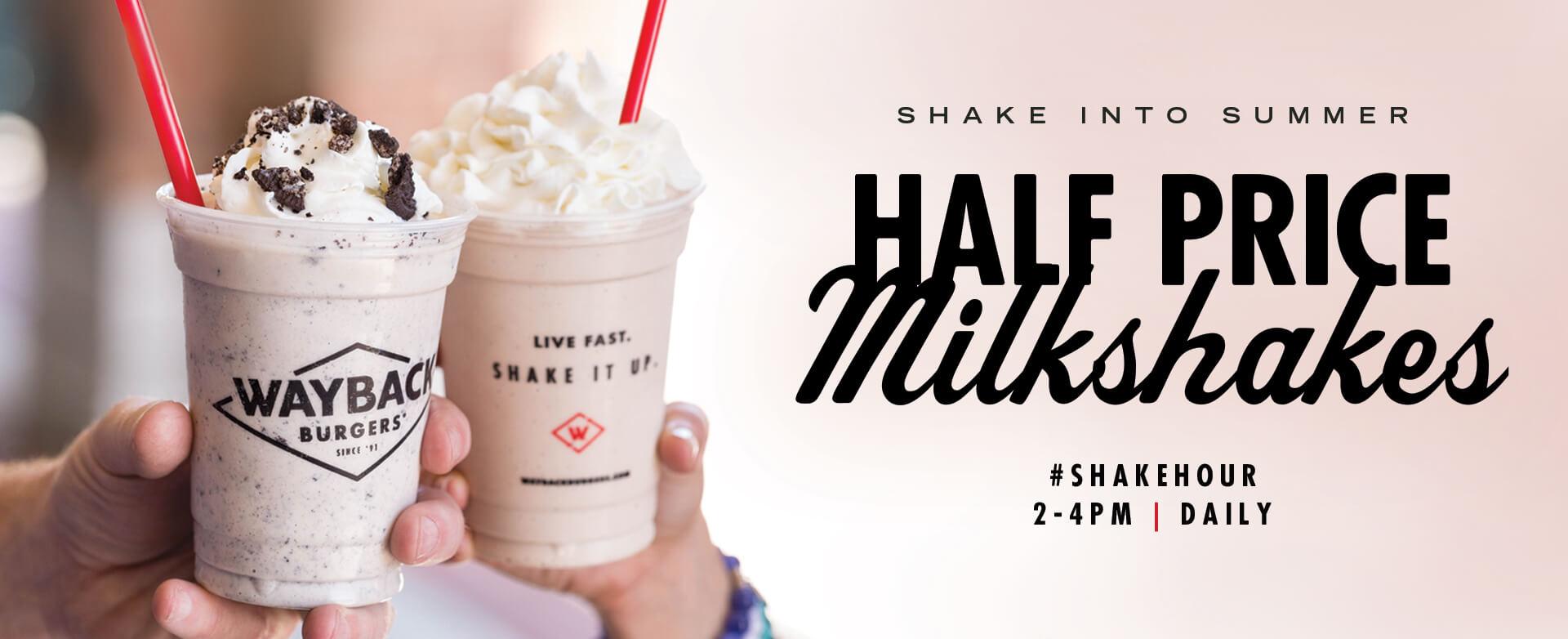 Shake Hour - Daily 2pm - 4pm