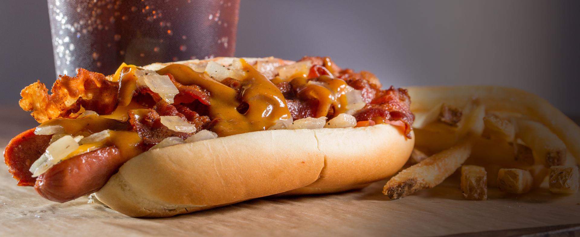 Bacon Stuffed Hot Dog