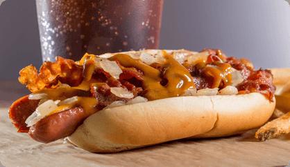 Stuffed Hot Dog